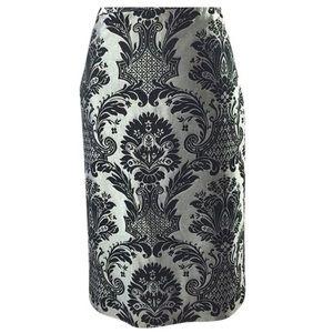Ann Taylor LOFT Knee Length Print Pencil Skirt 8